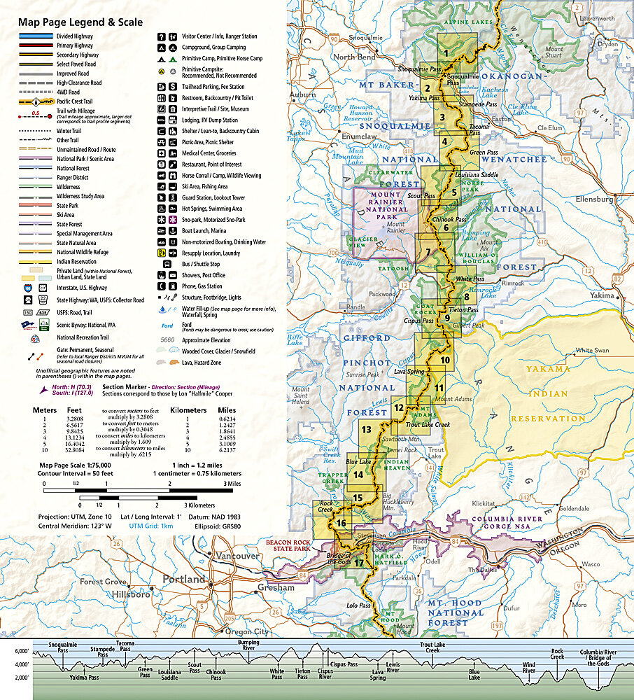 National Geographic Pacific Crest Trail Maps
